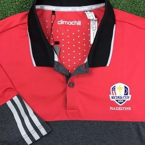 Adidas Red AdiChill Polyester Ryder Cup Tournament